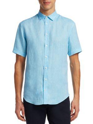 Emporio Armani Short Sleeve Linen Button-down