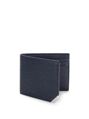 Bally Saffiano Leather Billfold Wallet