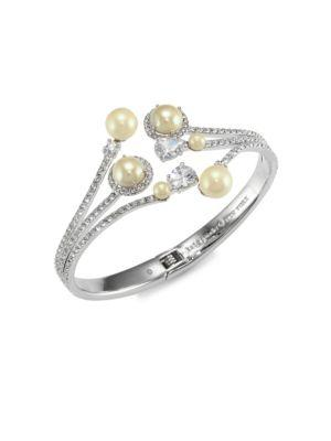 Kate Spade New York Glass Pearl Open Hinged Cuff