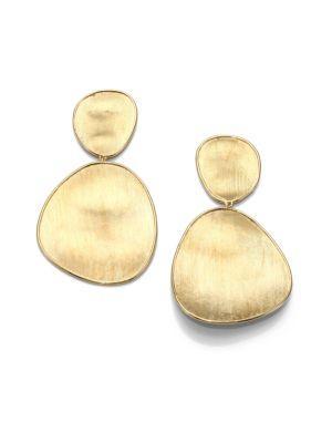 Marco Bicego Lunaria 18k Yellow Gold Double-drop Earrings