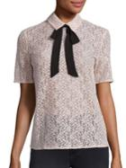 The Kooples Bow Lace Top