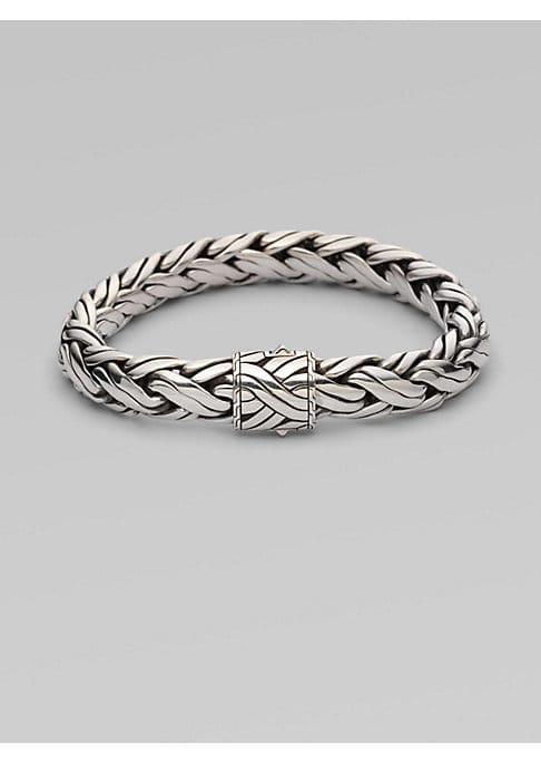 John Hardy Woven Silver Bracelet