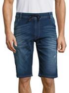 Diesel Kroo Washed Denim Shorts