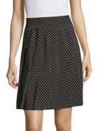Marc Jacobs Pleated Polka-dot Silk Skirt