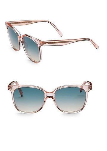 Celine 57mm Round Acetate Sunglasses