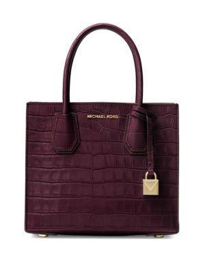 Michael Michael Kors Textured Leather Messenger Bag