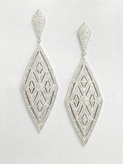 Adriana Orsini Crystal Encrusted Diamond Drop Earrings