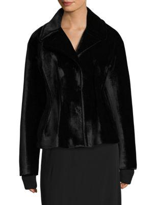 Donna Karan New York Darted Wide Lapel Jacket