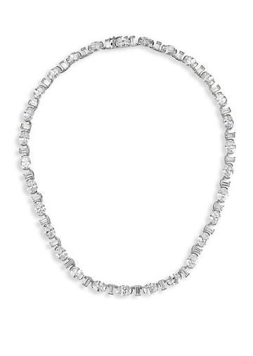 Adriana Orsini Brilliant & Baguette-cut Cubic Zirconia Collar Necklace