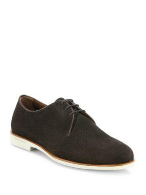 Fratelli Rossetti Perforated Suede Oxfords