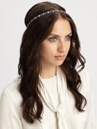 Jennifer Behr Crystal Scalloped Headband