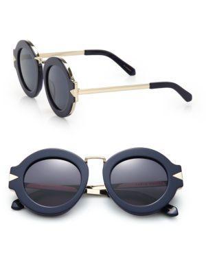 Karen Walker Maze 47mm Round Sunglasses