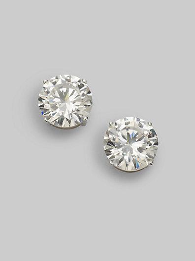 Adriana Orsini Sterling Silver 4 Carat Stud Earrings
