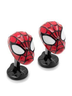 Cufflinks, Inc. Marvel Comics Silvertone 3d Spiderman Cuff Links