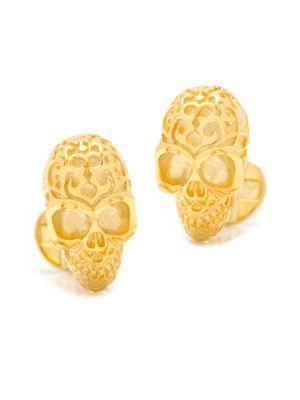 Cufflinks, Inc. 18k Gold Vermeil Fatale Skull Cuff Links