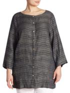 Eileen Fisher, Plus Size Textured Box Top