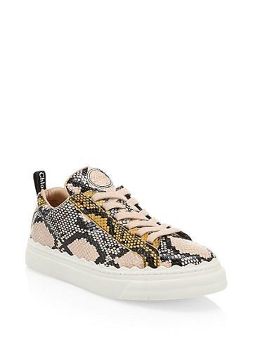 Chloe Lauren Python Leather Sneakers