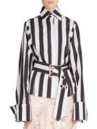 Marques'almeida Belted Striped Shirt