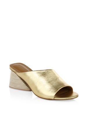 Mercedes Castillo Irine Metallic Leather Mules