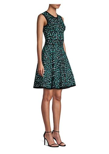 Michael Kors Collection Zip Front Fit-&-flare Dress