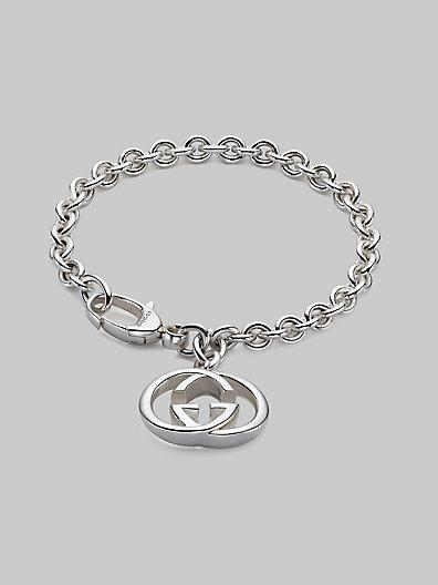 Gucci Sterling Silver Double G Charm Bracelet