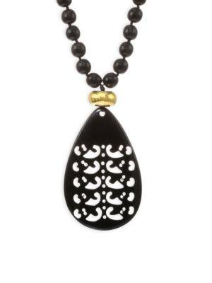 Nest Horn Teardrop Necklace/32