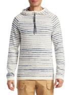 Madison Supply Striped Knit Hoodie