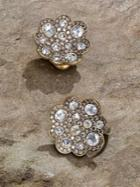 Roberto Coin Diamond & 18k Gold Button Earrings