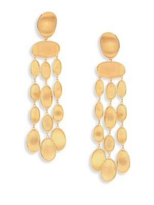 Marco Bicego Lunaria 18k Yellow Gold Chandelier Earrings