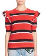 Msgm Striped Knit Top