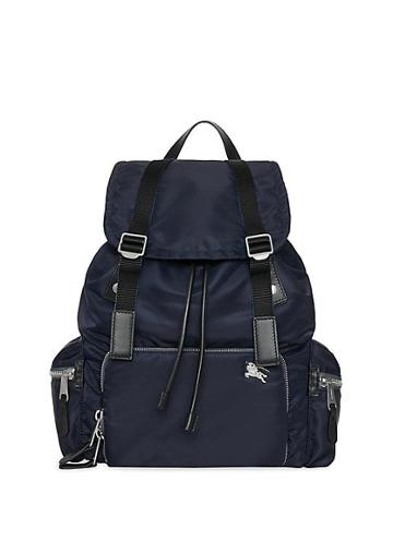 Burberry Nylon & Leather Military Backpack