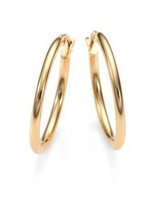 Roberto Coin 18k Yellow Gold Oval Hoop Earrings/1