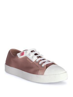 Prada Satin Tennis Sneaker