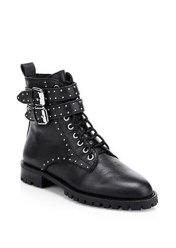 Rebecca Minkoff Jaiden Studded Leather Combat Boots