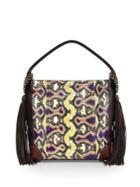 Christian Louboutin Eloise Empire Studded Snake-print Leather Hobo Bag