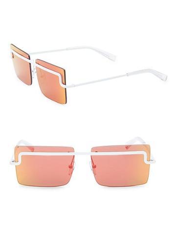 Karen Walker 58mm Le Specs X Adam Selman The International Square Sunglasses