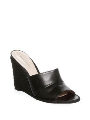 Stuart Weitzman Slidewalk Leather Espadrilles