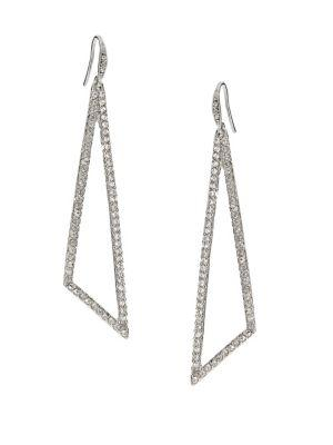Abs By Allen Schwartz Jewelry Pave Triangle Drop Earrings