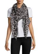 Saint Laurent Grand Leopard Wool Scarf