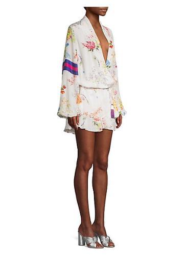 Rococo Sand Ayaka Short Floral Wrap Dress