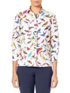 Carolina Herrera Bird-print Blouse