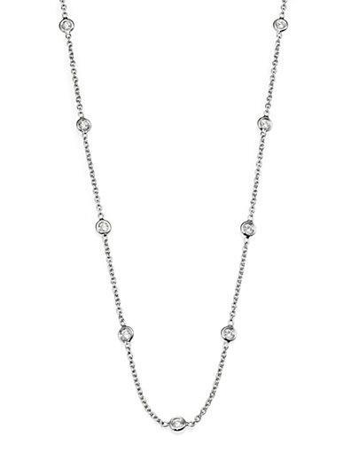 Roberto Coin Diamond & 18k White Gold Station Necklace