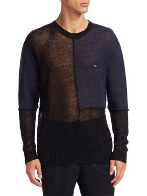Mcq Alexander Mcqueen Patched Mesh Sweater