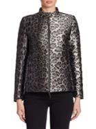 Armani Collezioni Leopard-print Puffer Coat