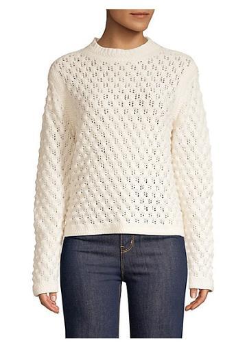 La Vie Rebecca Taylor Wool-blend Popcorn Stitch Pullover Sweater