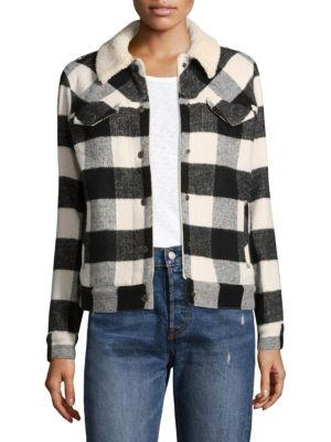 Levi's Plaid Faux Shearling-trim Jacket