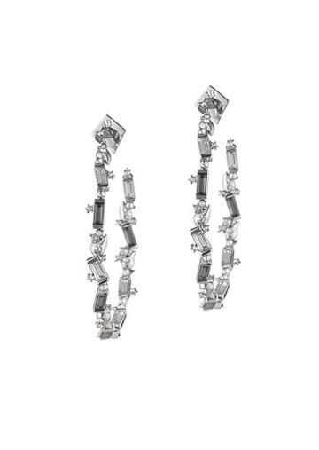 Alexis Bittar Swarovski Crystal Baguette Hoop Earrings