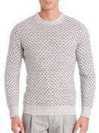 Brunello Cucinelli Wool & Cashmere Blend Birdseye Sweater