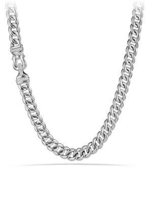 David Yurman Buckle Chain Necklace With Diamonds