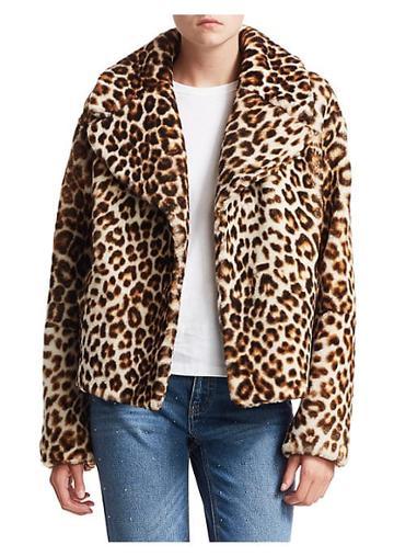 A.l.c. Leopard Shearling Jacket